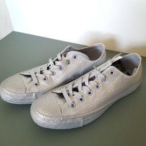 Converse Chuck Taylor All Silver Glitter Sneakers